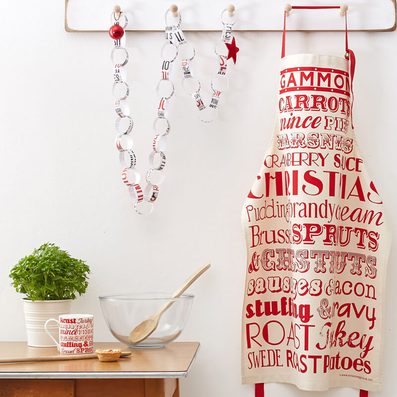 Christmas Dinner Apron for adults