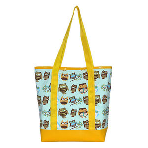 Yellow Owl polyester shopping bag