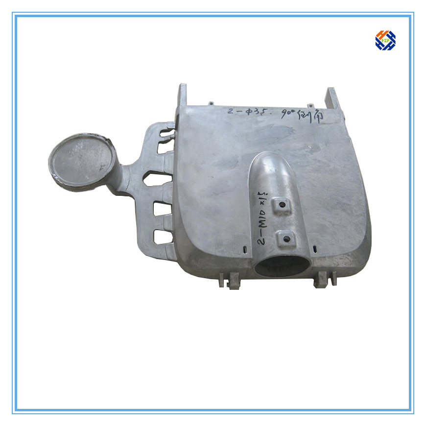 Die casting aluminum alloy led street light housing with Sand Blasting surface