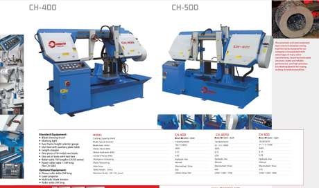 CH SERIES DOUBLE COLUMN SEMI AUTOMATIC BAND SAWS CH400-CH500