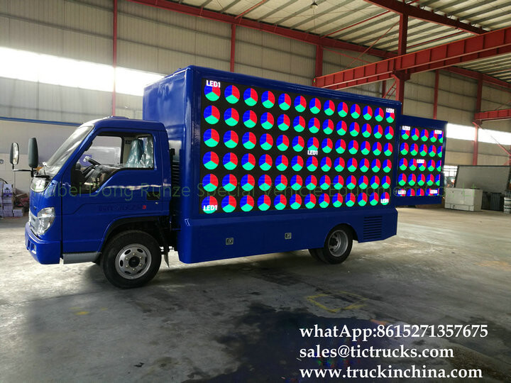 Foton 4x2 LED stage truck-19-factory-LED advertise truck