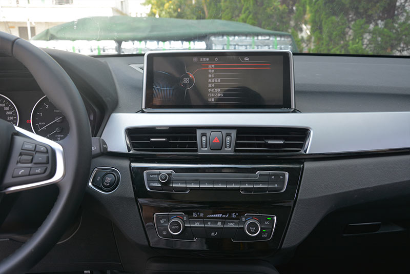 华凌安新款宝马x1车载影音导航仪安装作业