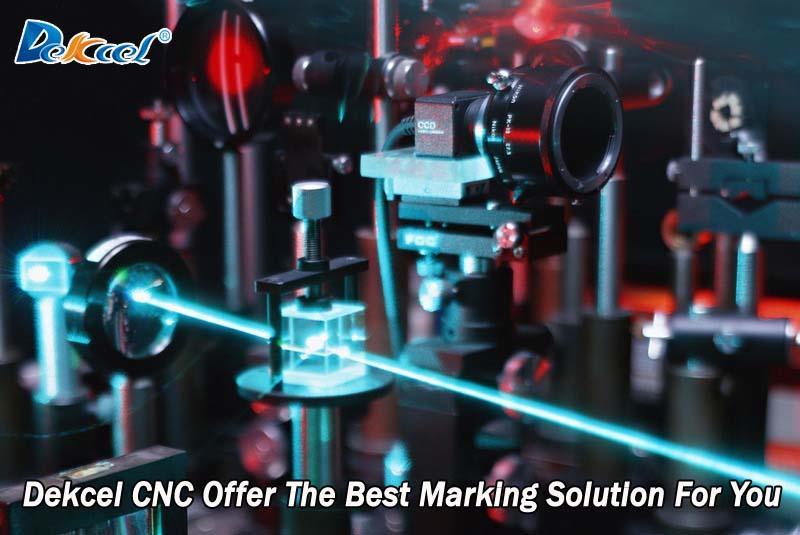 máquina solution.jpg de la marca del laser del metal de la fibra del CNC del dekcel