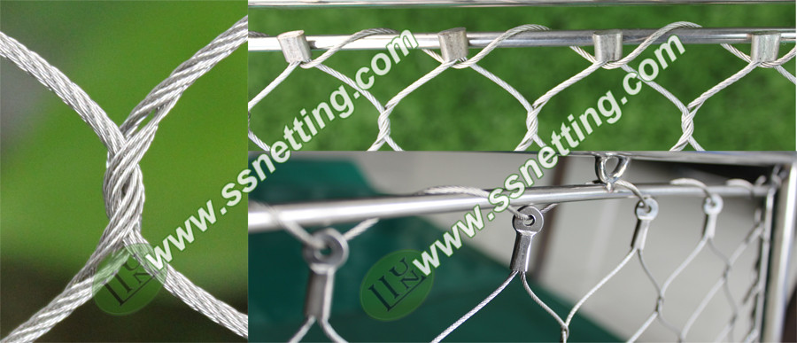 Monkey enclosure mesh wire rope netting