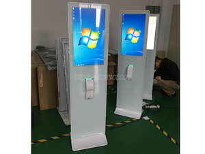 27inch capacitive touch screen kiosk build in with PC and thermal printer 80MM