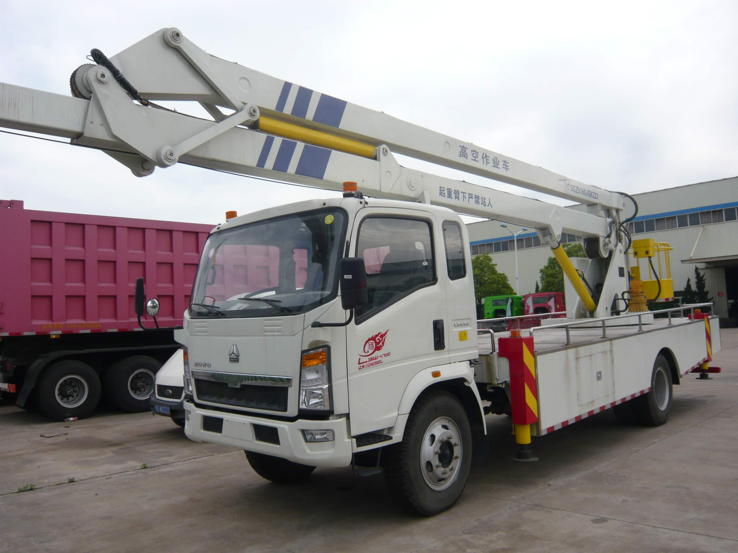 Sinotruck howo 14.5m height 4x2 aerial platform working truck
