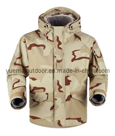 Military Desert Camo Ecwcs Parka with Fleece Liner Inside