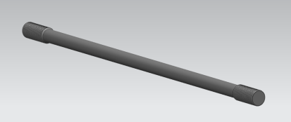 Upset forged thread tie rod