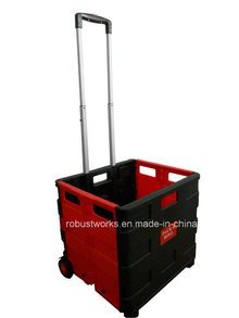 Plastic Portable Folding Shopping Cart (FC403K-2)