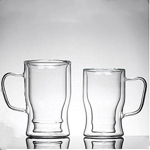 Double wall glass mug,glass coffee cup,heat resistant glass,food grade,lead and BPA free