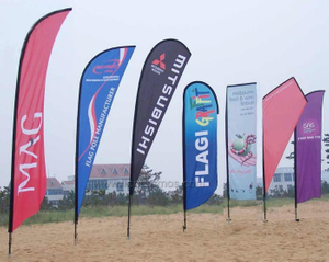 Outdoor Events Advertising Campaign Beach Flag