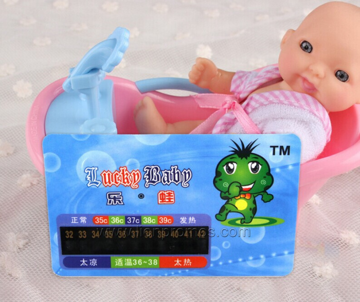Promotional LCD thermometer Bathing Card