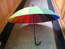 Hotel Rainbow Color Polyester Straight Umbrella