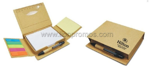 Hilton Hotel Promotional Gift Recycled Paper Sticky Note Memo Pad Set