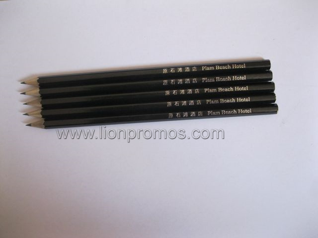 Hotel Logo Gold Stamping Sharpen Head Wood Pencil
