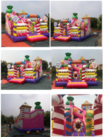 Rainbow Inflatable candy playground
