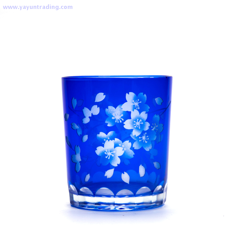 yayun 2018 best selling hand engraved series glass tumbler