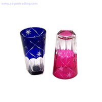 unique design and high quality hand cut glass tumbler for party