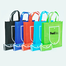 Folded non woven bags with print logo for shopping