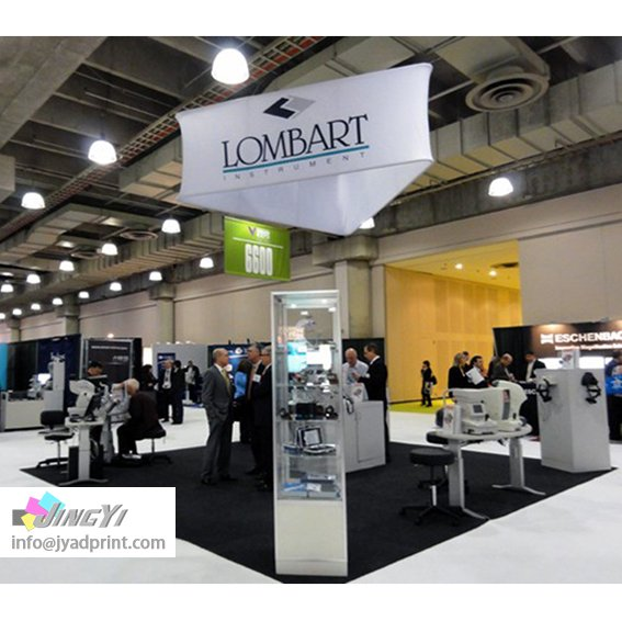Exhibition Booth Banner : Ez tube trilateral hang banner custom print tradeshow event