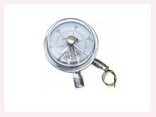 PG-008 Magnetic electric contact Pressure Gauges back connection with flange