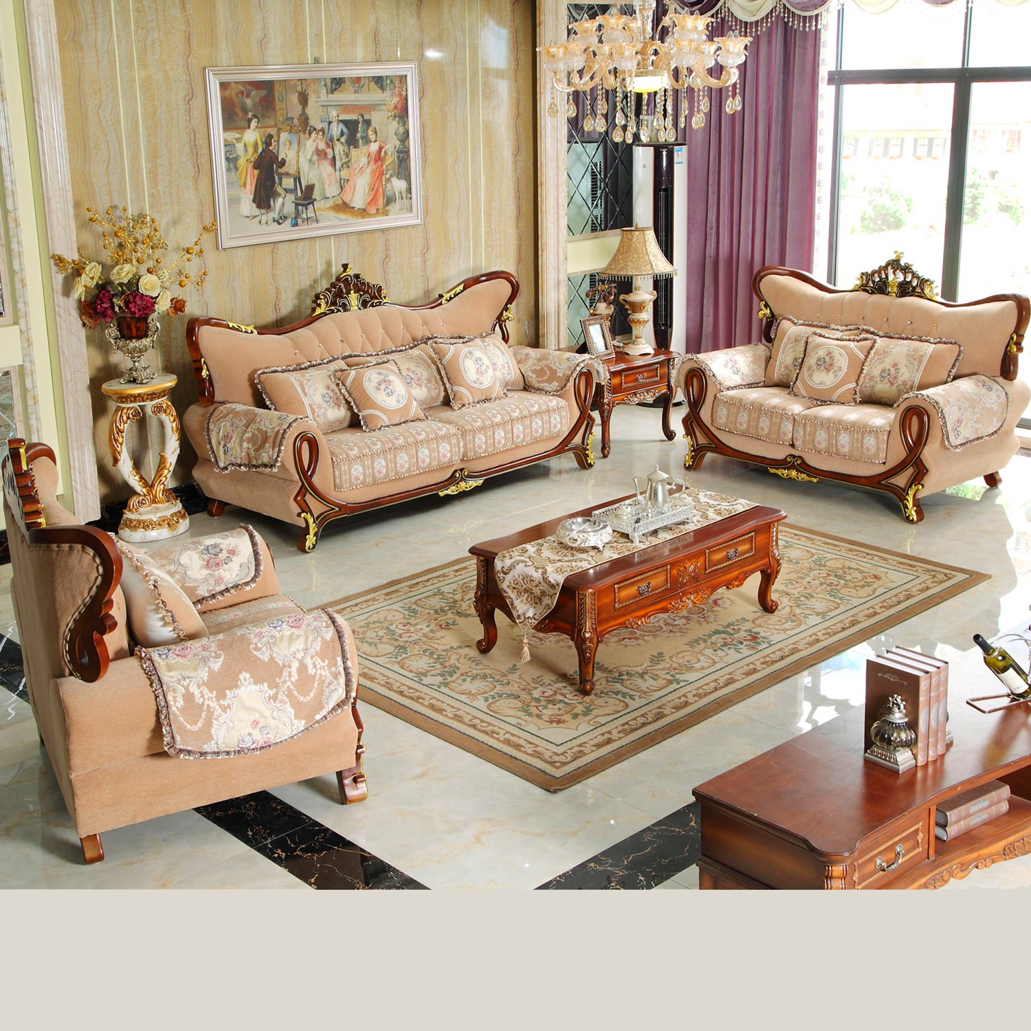 968 Fabric Sofa for Living Room Furniture