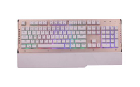 Mechanical Keyboard with Metal Front Panel Design Keyboard for Computer