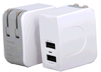 High Quality USB Wall Charger with Two Ports Output