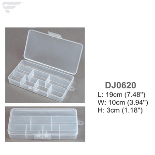 DJ0620 Transparent Plastic Box 8 Compartment box