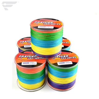 Mutil color PE Braided Fishing Line 4 Strands 300m