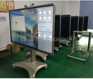 Dedi 75inch android board 10 points touch interactive magnetic whiteboard for school