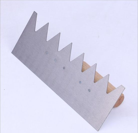 Notched Plastering Trowel for Construction Tools
