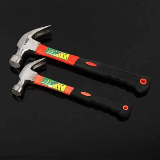 High Quality Carbon Steel Claw Hammer with Plastic Coating Handle