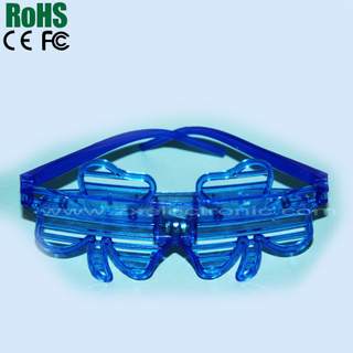led shutter sunglasses of clover promotional