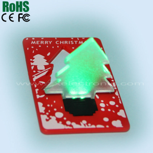 New Products &Party Supplies Christmas Cards That Light Up
