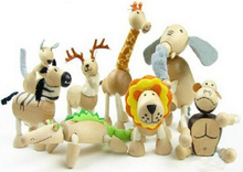 wooden animal doll toys