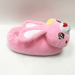 Cute Rabbit Shaped Plush Kids Animal Slippers
