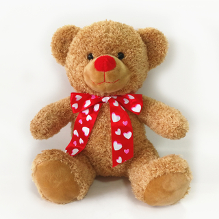 Stuffing Large Brown Teddy Bear Plush with Tie