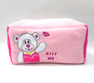 Promotional Cute Plush Tissue Box Cover Cartoon Plush Fabric Tissue Box