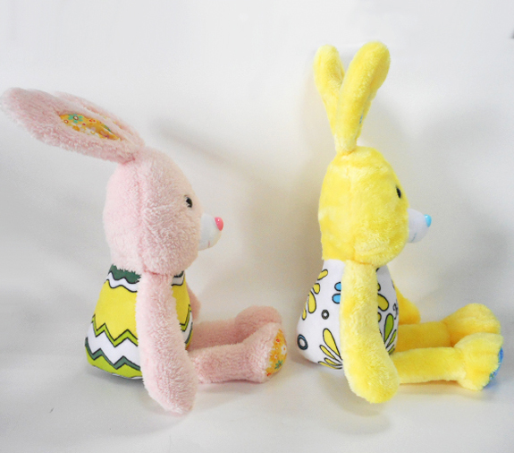 Super Soft Pink Rabbit Plush Toys Stuffed Easter Bunnies