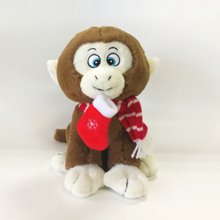 Cute Plush Grey Monkey for Christmas Gifts