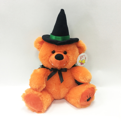 Custom Halloween Baby Gift Plush Orange Teddy Bear