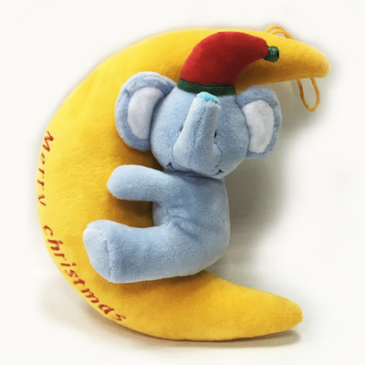 Lovely Plush stuffed elephant with Blue Moon Toy