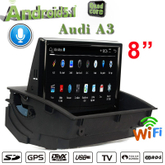 "8""Anti-Glare car stereo Audi A3 carplay car dvr palyer 3G Internet wifi connection"