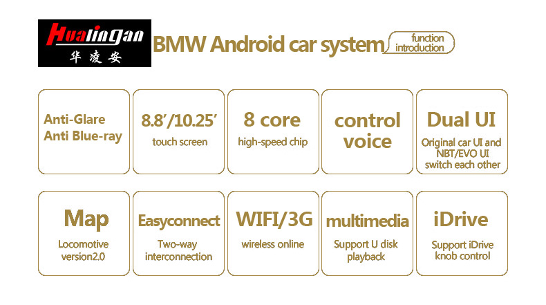 Hualingan For BMW X5/X6,NBT system,10.25 inch Android car multimedia system MTK Core 4G internet 64G storage WIFI Carplay