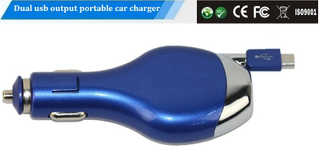 New Design with Piano Lacquer Mobile Phone Dual Port Car usb Portable Charger