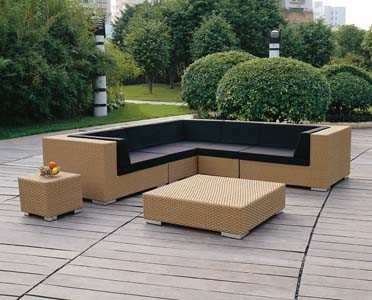 Poly Rattan Sofa Corner Set for Outdoor Furniture