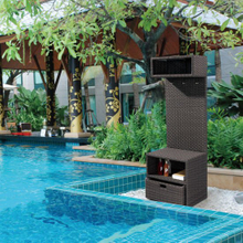 Outdoor Wicker/Rattan Pool Cabinet (LN-705)