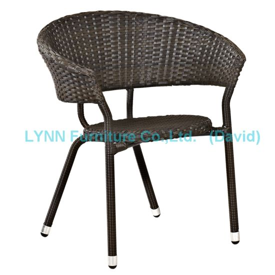 Garden Furniture Black Poly Rattan Chair