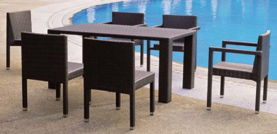 Wicker Chairs and Table Outdoor Garden Furniture